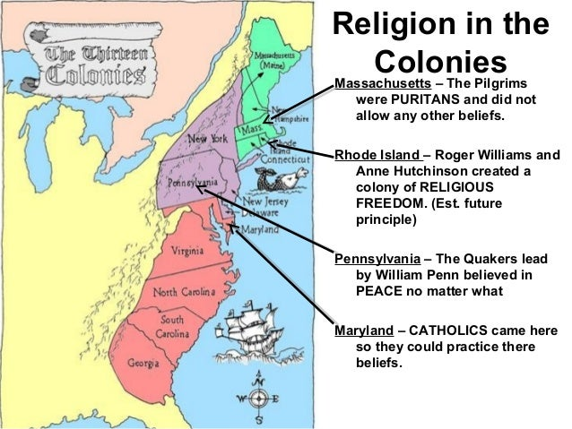 religious freedom the puritans of massachusetts bay colony and the quakers of pennsylvania The first known quakers in north america arrived in the massachusetts bay colony in 1656 via barbados, and were soon joined by other quaker preachers who converted many colonists to quakerism many quakers settled in rhode island , due to its policy of religious freedom, as well as the british colony of pennsylvania which was formed by william.