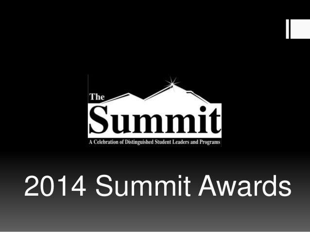 2014 Summit Awards