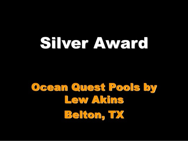 2014 Southwest Pool And Spa Show Design Award Winners