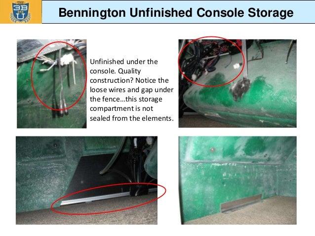2014 sylvan vs bennington competitive comparison revised bennington unfinished