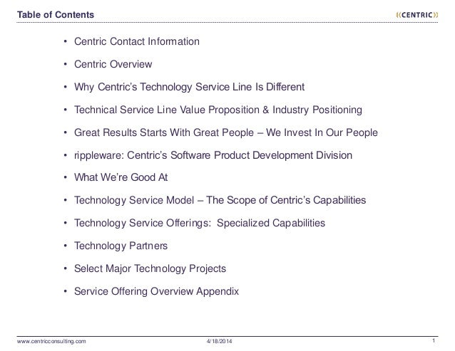 Centric 2014 Company Introduction & Technology Consulting