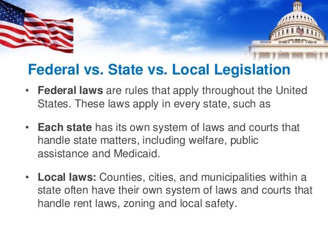 feds v state policy The gov means it's official federal government websites often end in gov or mil before sharing sensitive information, make sure you're on a federal government site.