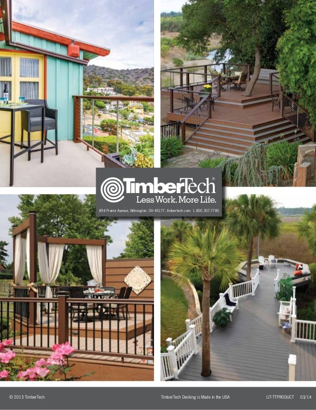 2014 timbertech deck catalog. Black Bedroom Furniture Sets. Home Design Ideas