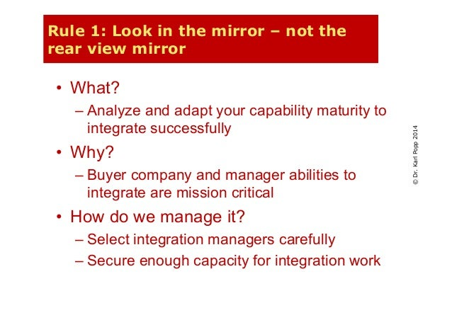 Managing multiple mergers at a time - ingredients for success Slide 3