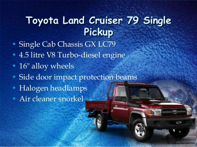 Toyota Land Cruiser 70 Land Cruiser 200 Thailand Diesel Pickup Truck
