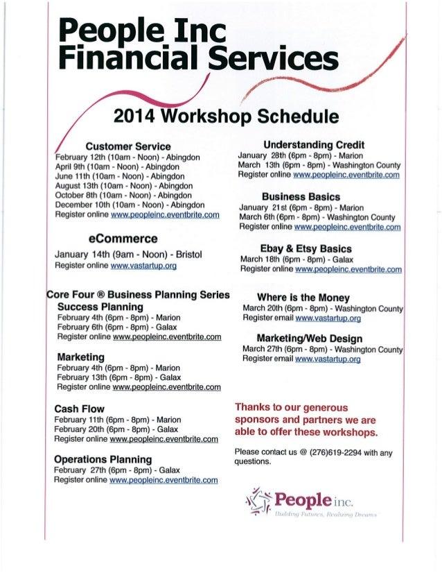2014 People Inc Training Schedule