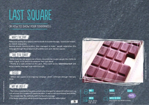 lAsT SQUARE OR HOW TO SHOW YOUR TENDERNESS  Image Credit : Screenshot from Youtube  Milka was looking for a way to communi...