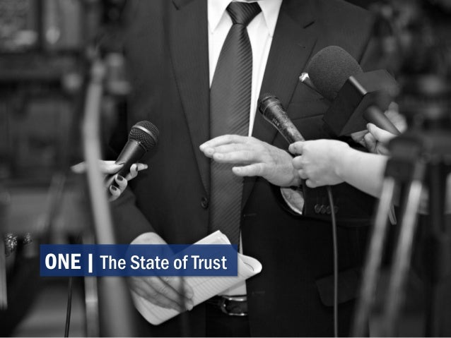 ONE | The State of Trust