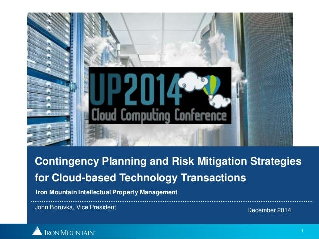 contingency planning and risk mitigation strategies for