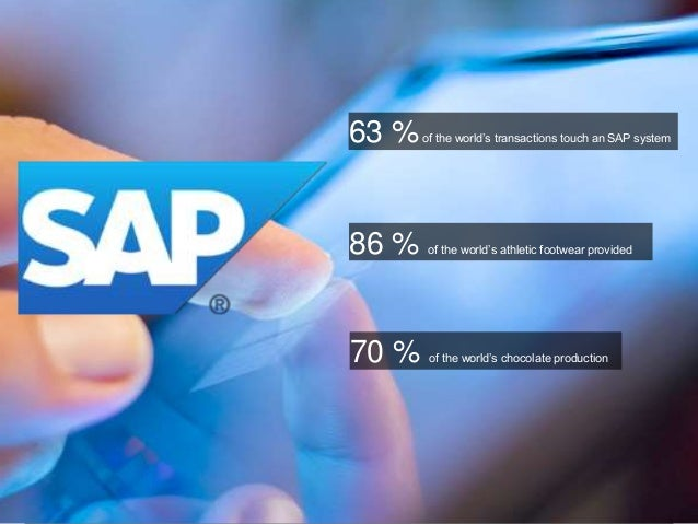 © 2013 SAP AG. All rights reserved. 1Public 63 %of the world's transactions touch an SAP system 86 % of the world's athlet...
