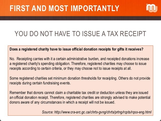 Consolidated Receipts In Raisers Edge And CRA Tax Receipting Guidelin - How to make a tax receipt
