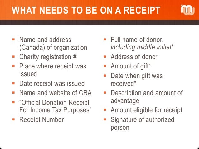 donation receipt for tax purposes