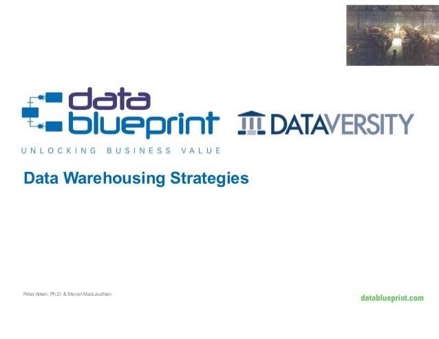 Data Warehousing Strategies  Peter Aiken, Ph.D. & Steven MacLauchlan