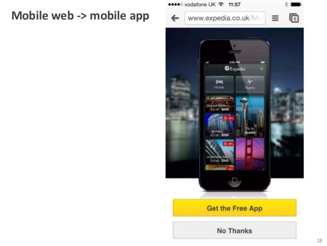 Mobile web -> mobile app  18