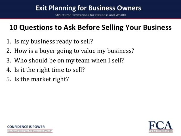 Ten Questions Every Business Plan Must Answer