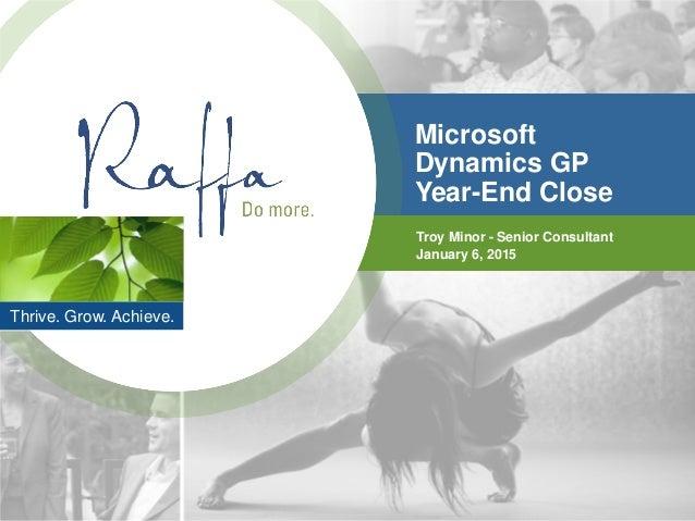 2015-01-06 Microsoft Dynamics GP Year End Closing Procedures