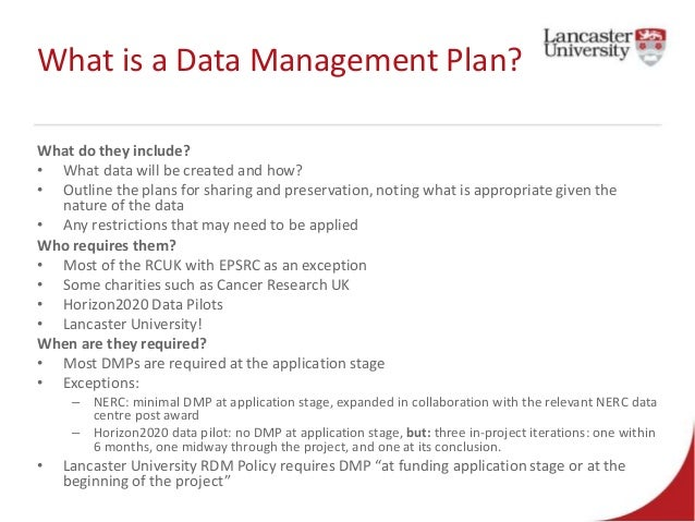 Data Management Policy Template 2015 01 14 Research Bites DMPonline Data Management Plans Made Easy