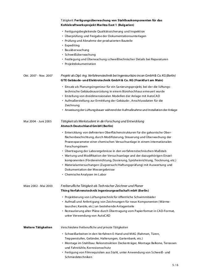 Nett Chemische Verfahrenstechnik Lebenslauf Zeitgenössisch - Bilder ...