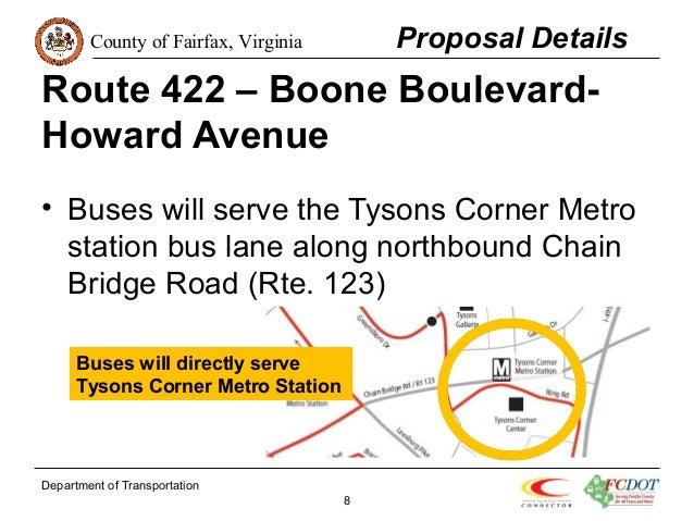 Fairfax Connector January 2015 Proposed Service Changes