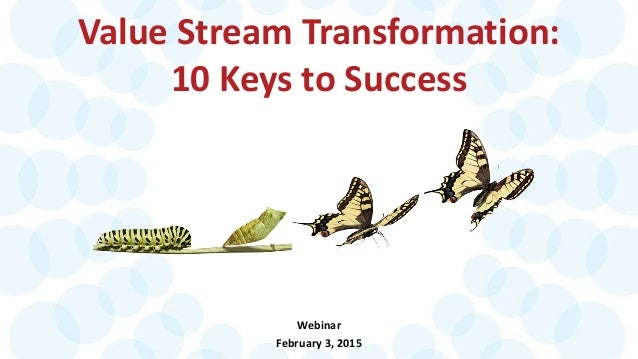 Value Stream Transformation: 10 Keys to Success Webinar February 3, 2015