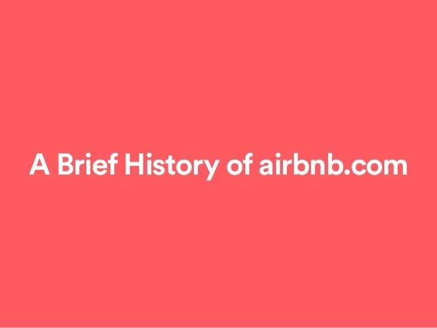 A Brief History of airbnb.com