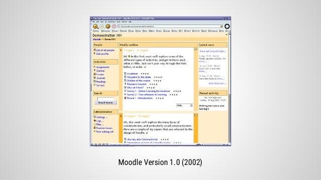 Ist das LMS Design im Web 1.0 stehen geblieben - Vortrag bei der Moodlemoot 2015 Slide 3