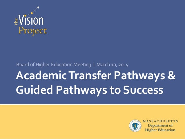 AcademicTransfer Pathways & Guided Pathways to Success Board of Higher Education Meeting | March 10, 2015