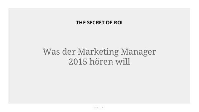 The Secret of ROI #AFBMC Slide 2