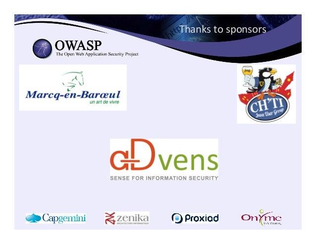 Thanks  to  sponsors