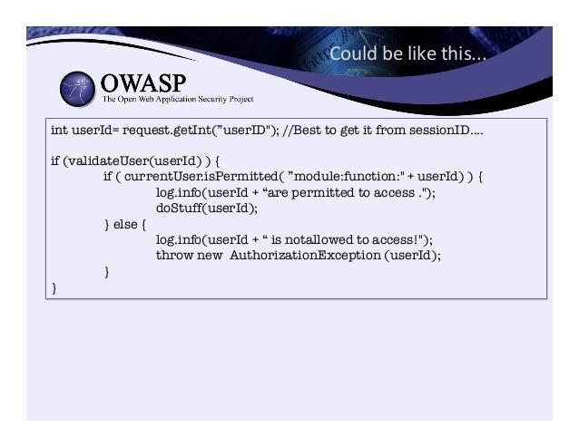 • Authentication Cheat Sheet – https://www.owasp.org/index.php/Authentication_Cheat_Sheet • Password Storage Cheat Shee...