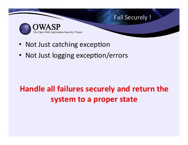 OWASP  ASVS   hZps://www.owasp.org/index.php/ Category:OWASP_Applica3on_Securit y_Verifica3on_Standard_Project