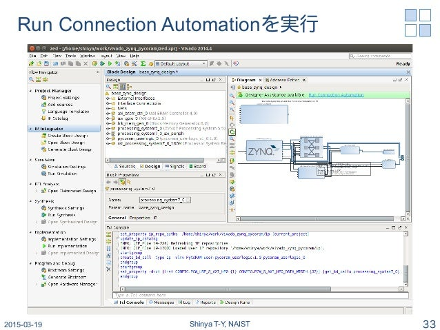 Run Connection Automationを実行 2015-03-19 Shinya T-Y, NAIST 33