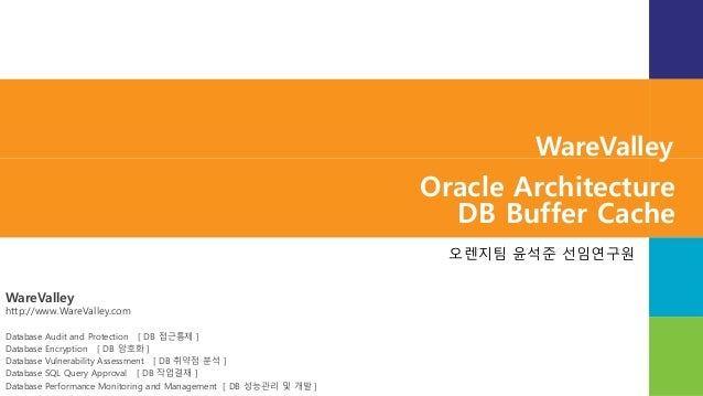 WareValley http://www.WareValley.com Database Audit and Protection [ DB 접근통제 ] Database Encryption [ DB 암호화 ] Database Vul...