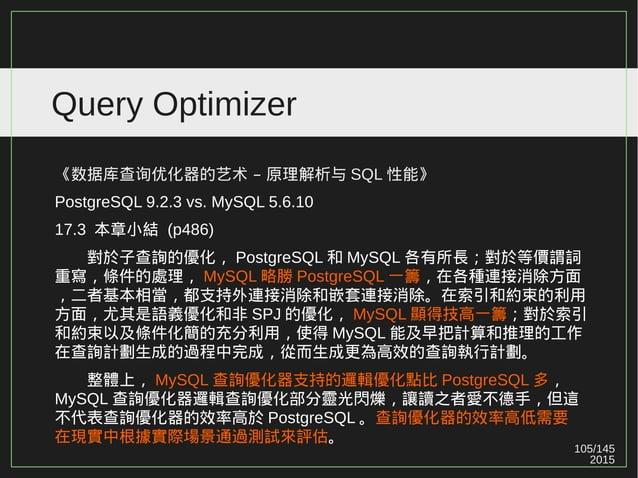2015 105/147 Query Optimizer Ref: https://drive.google.com/file/d/0Bw4cH_iKZJzKLXFIWVFfMk13Vm8/view (p24)