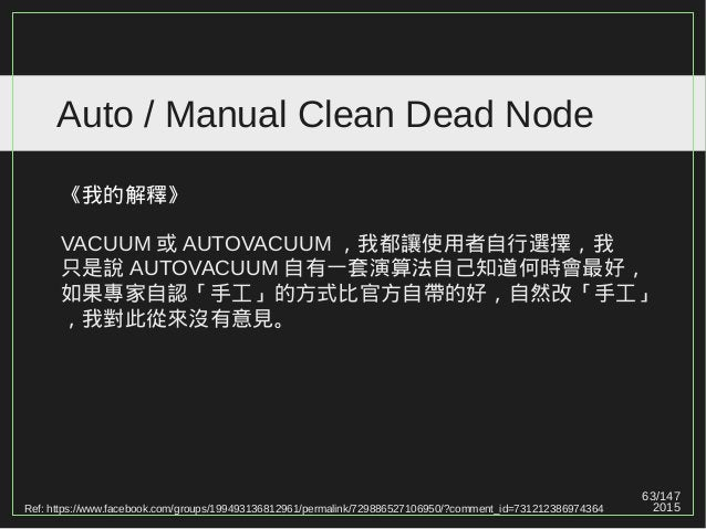 63/147 2015 Auto / Manual Clean Dead Node Ref: https://www.facebook.com/groups/199493136812961/permalink/729886527106950/?...
