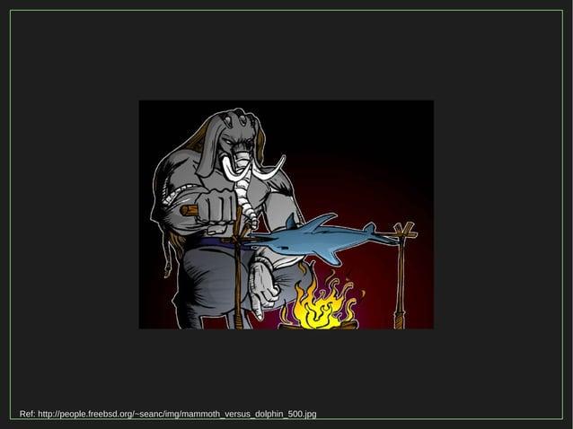 Ref: http://people.freebsd.org/~seanc/img/mammoth_versus_dolphin_500.jpg