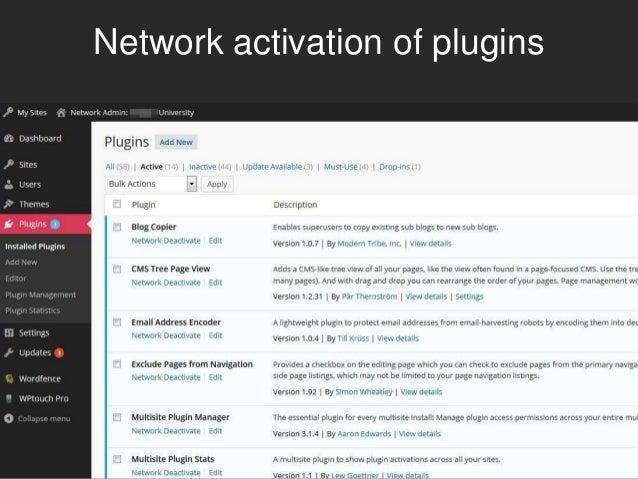 Network settings for plugin menu
