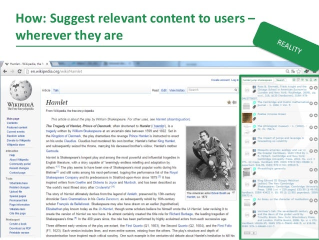 12 How: Suggest relevant content to users – wherever they are