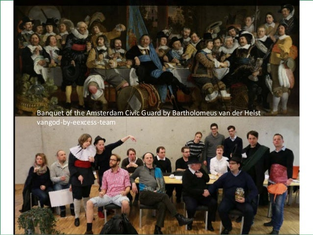 21 Banquet of the Amsterdam Civic Guard by Bartholomeus van der Helst vangod-by-eexcess-team