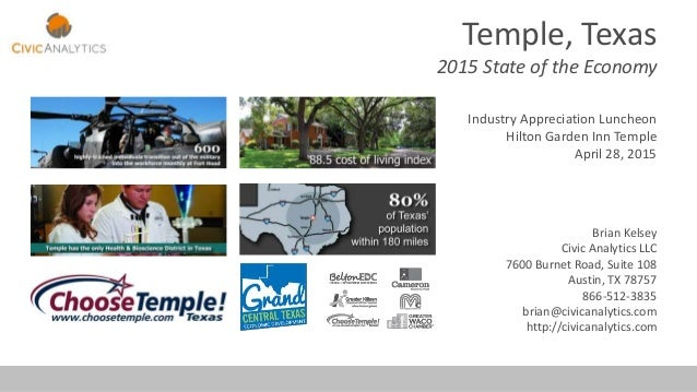 Temple, Texas 2015 State Of The Economy Industry Appreciation Luncheon Hilton  Garden Inn Temple April ...