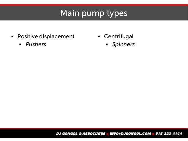 Intro to pumps in a collection system