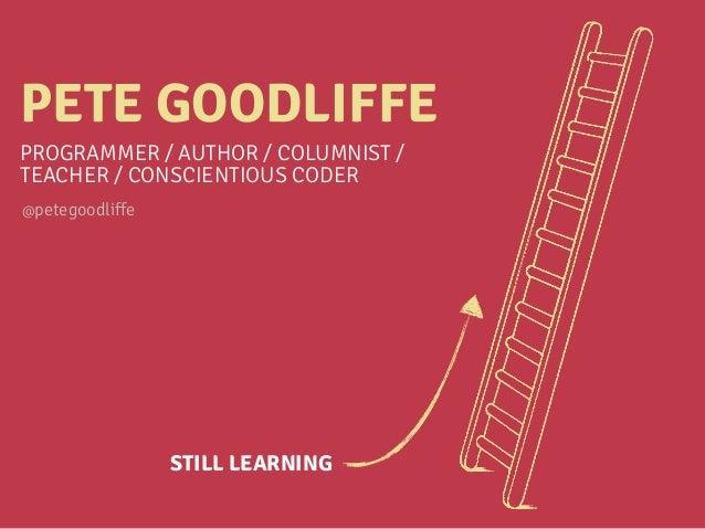 Becoming a Better Programmer Slide 3