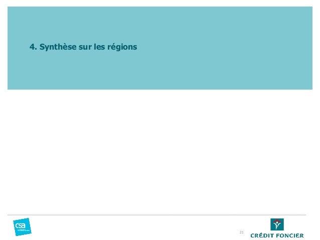 4. Synthèse sur les régions 21