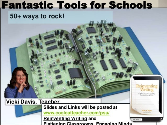 Fantastic Tools for Schools 50+ ways to rock! Vicki Davis, Teacher Slides and Links will be posted at www.coolcatteacher.c...