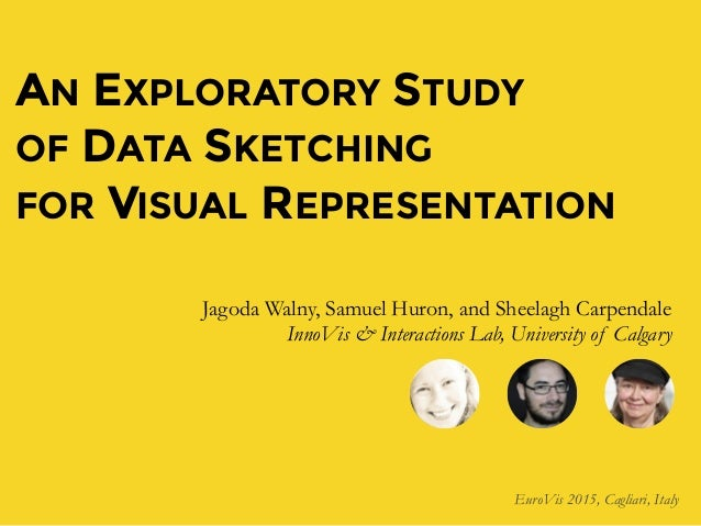 AN EXPLORATORY STUDY OF DATA SKETCHING FOR VISUAL REPRESENTATION Jagoda Walny, Samuel Huron, and Sheelagh Carpendale InnoV...