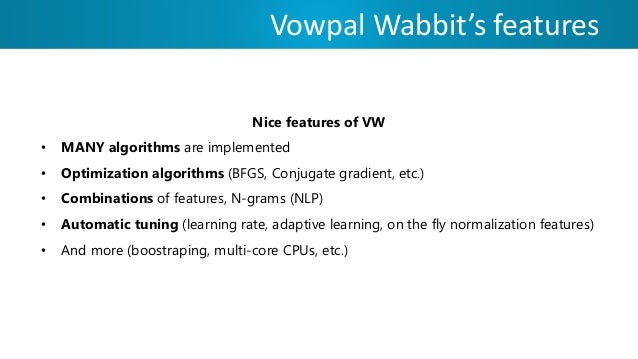 vowpal wabbit online learning