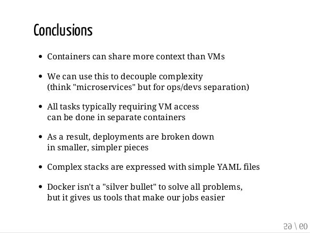 Implementing Separation Of Concerns With Docker And Containers