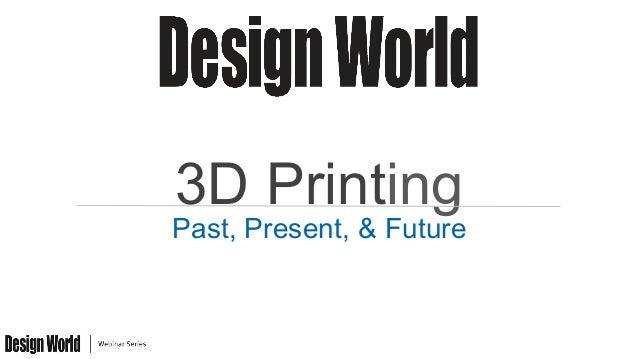 3D Printing Past, Present, & Future