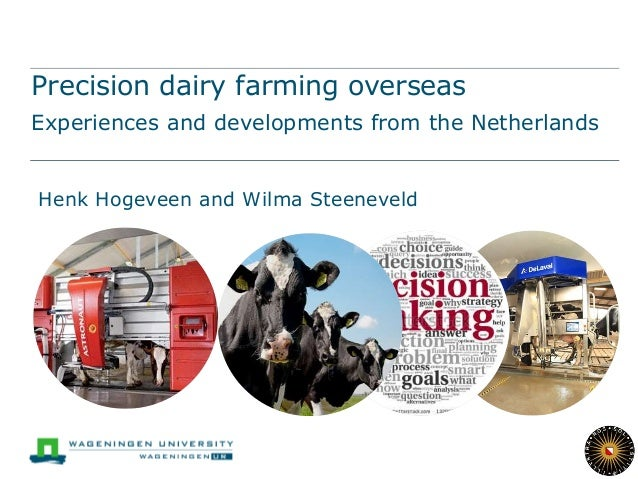 Precision dairy farming overseas Experiences and developments from the Netherlands Henk Hogeveen and Wilma Steeneveld