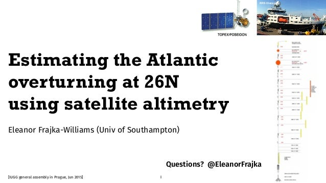Eleanor Frajka-Williams (Univ of Southampton) Grace (NASA/JPL) RRS Discovery 1 Estimating the Atlantic overturning at 26N ...